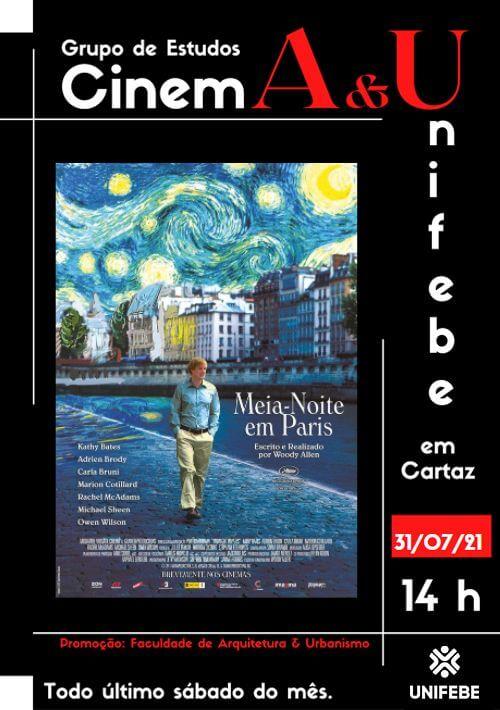 1ª edição do projeto Cinema & UNIFEBE inicia neste sábado (31)