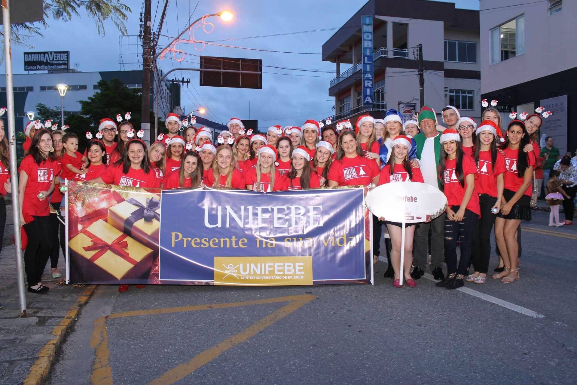 Participe do Desfile de Natal de Guabiruba com a UNIFEBE