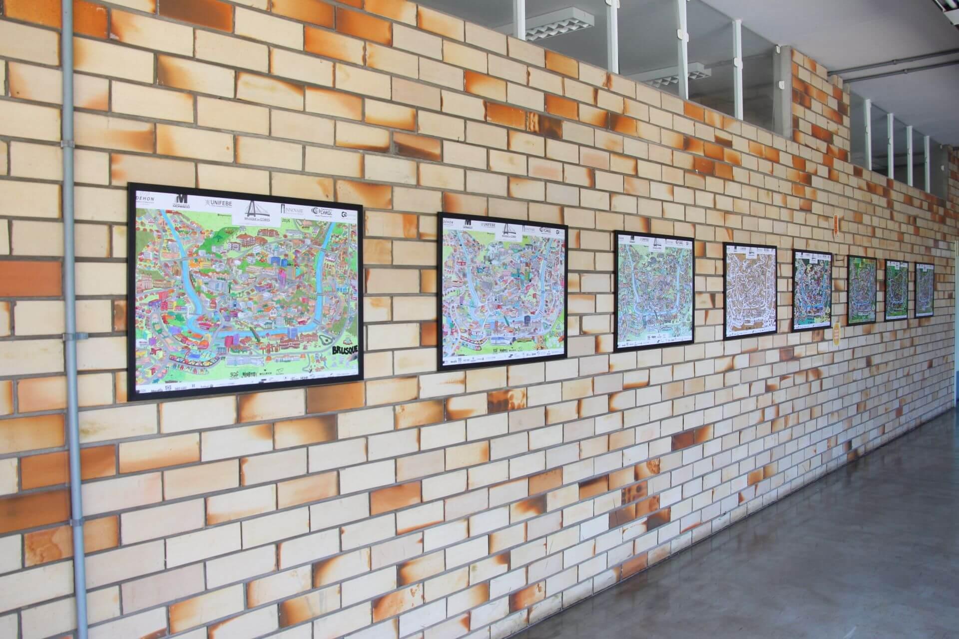 UNIFEBE expõe mapas do Brusque em Cores