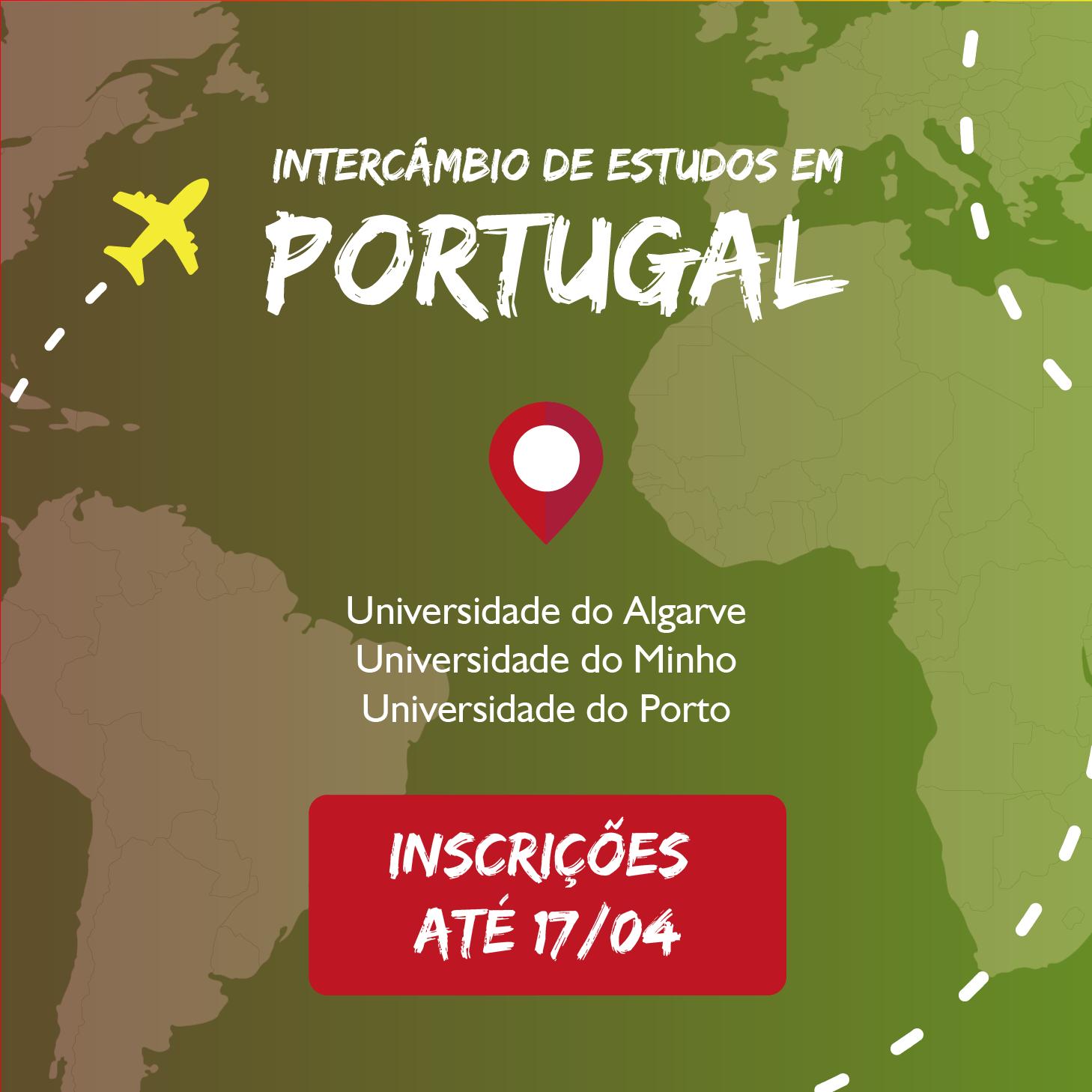 Inscrições abertas para intercâmbio em Portugal