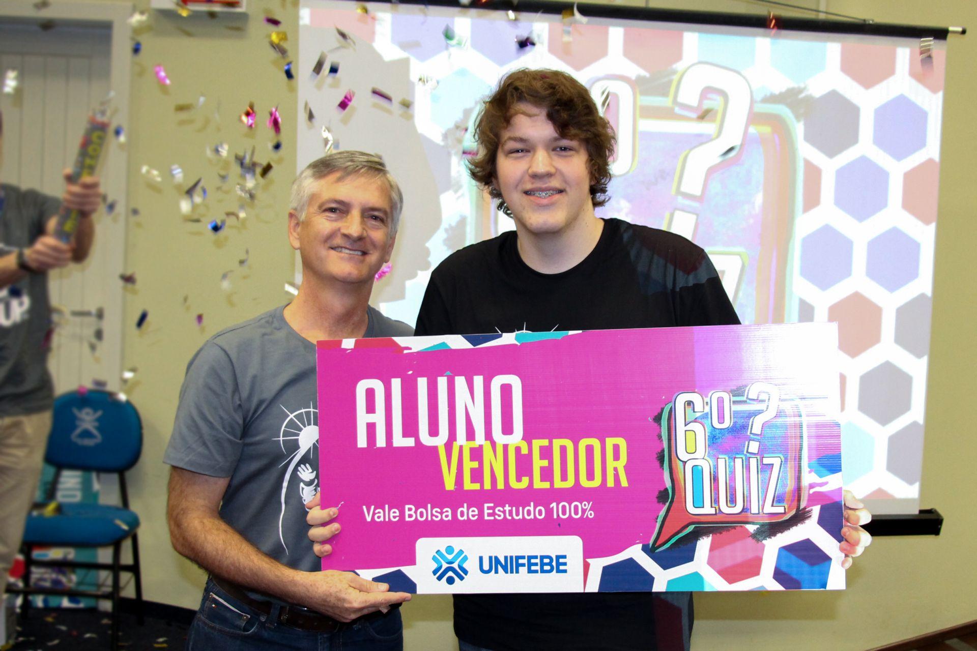 QUIZ UNIFEBE premia estudante com bolsa de estudos integral
