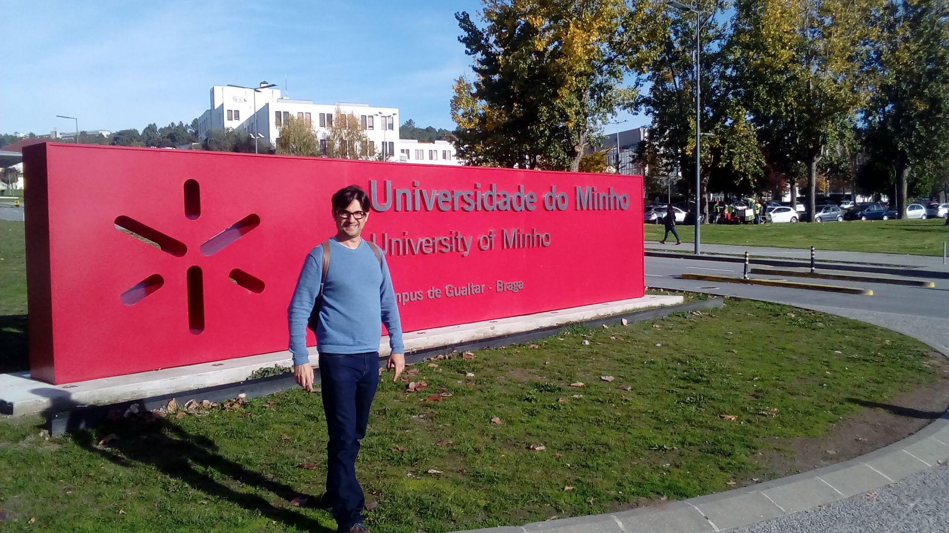 Professor da UNIFEBE faz mestrado na Universidade do Minho em Portugal