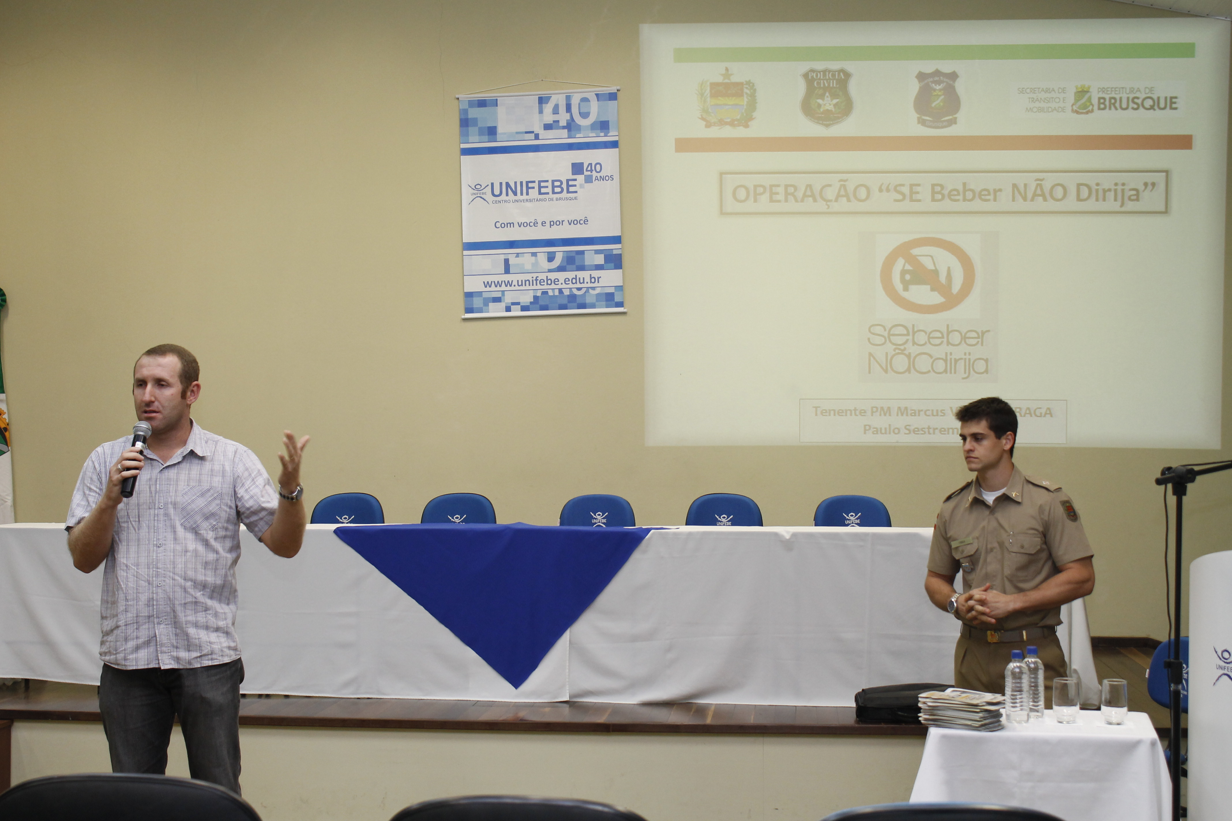 Lei Seca é tema de palestra na UNIFEBE