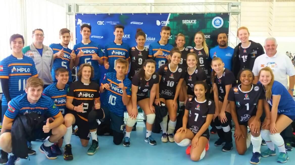 Alunos do Colégio Amplo/UNIFEBE disputam a 2ª etapa do estadual de voleibol