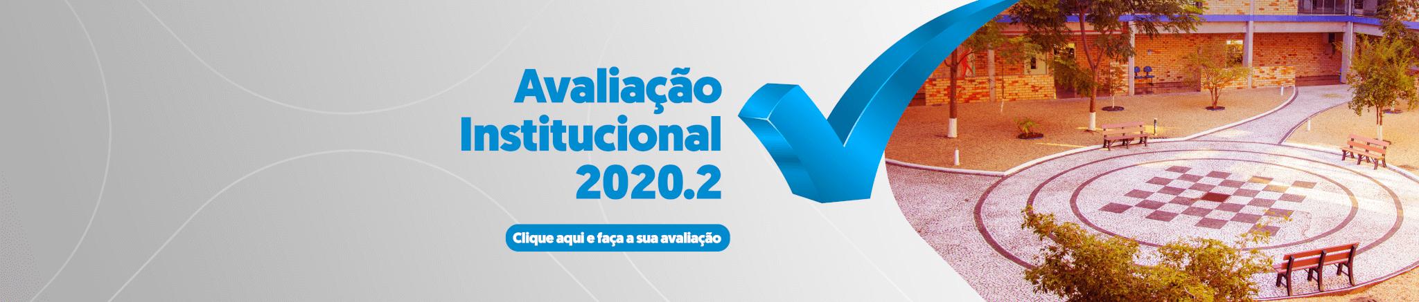 Avaliação Institucional Banner desktop 2020.2