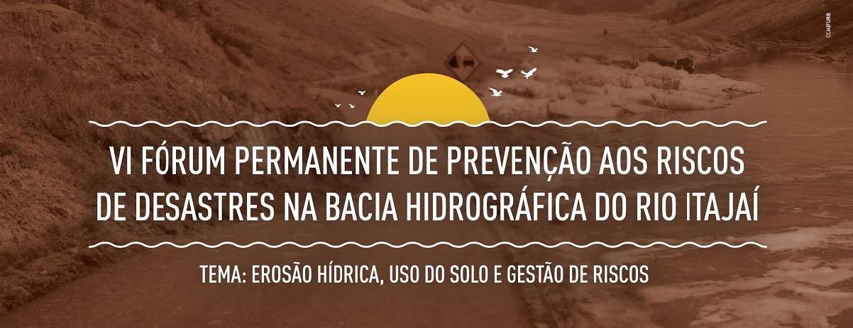 UNIFEBE participa do VI Fórum Permanente de Prevenção de Desastres na Bacia do Itajaí