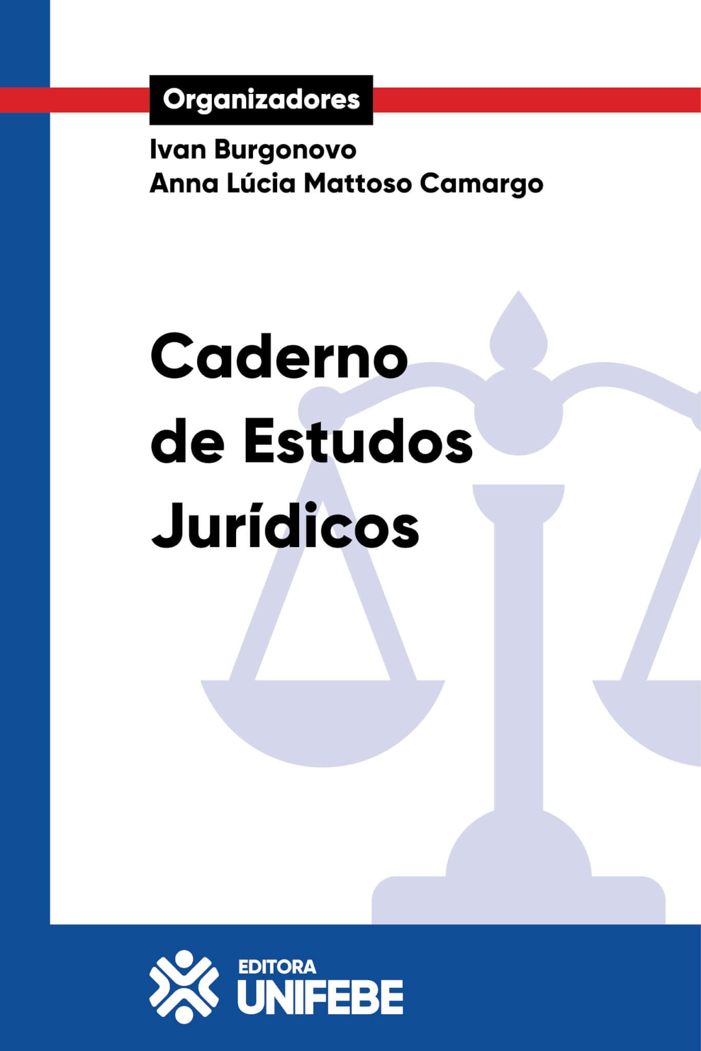 1 capa caderno de estudos juridicos