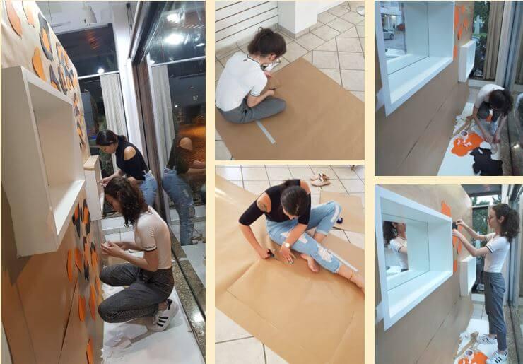 Estudantes de Design de Moda e Publicidade e Propaganda desenvolvem projetos de vitrinas para empresas locais