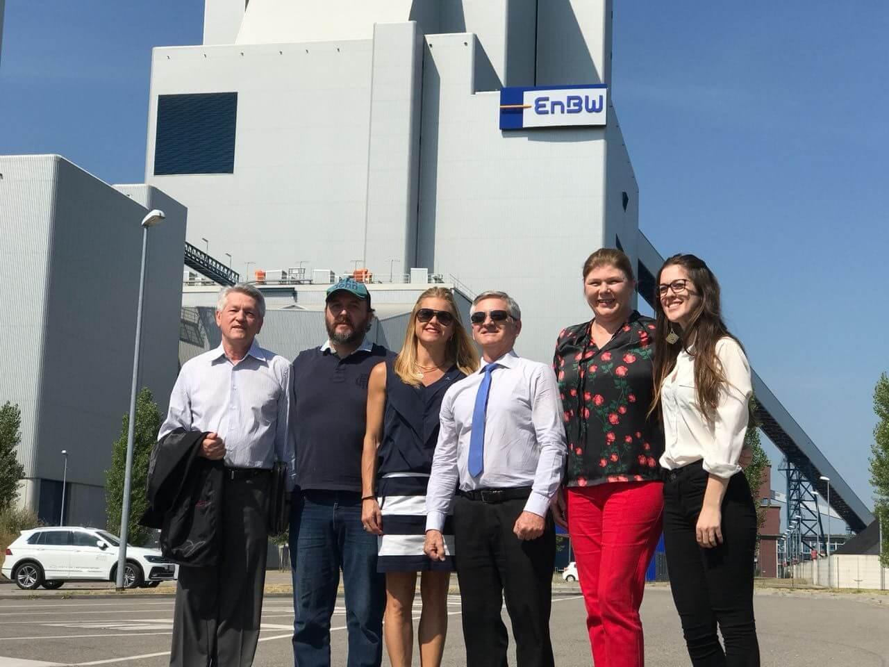 Comitiva brusquense visita geradora de energia elétrica da Alemanha