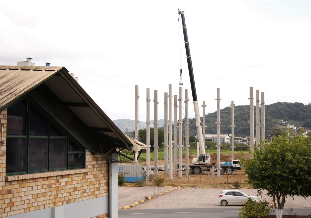 Construção do Bloco da Saúde da UNIFEBE avança mais uma etapa