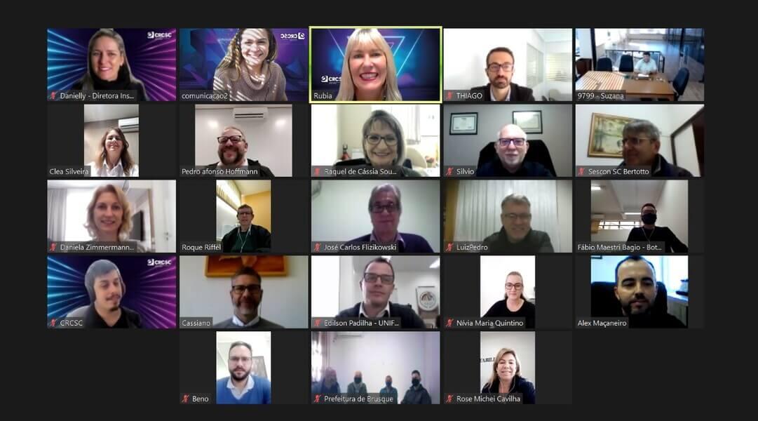 Professores da UNIFEBE representaram o curso de Ciências Contábeis em reunião virtual com o Conselho Regional de Contabilidade de Santa Catarina