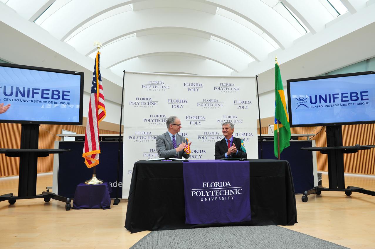 UNIFEBE e Universidade Politécnica da Flórida assinam acordo de cooperação internacional