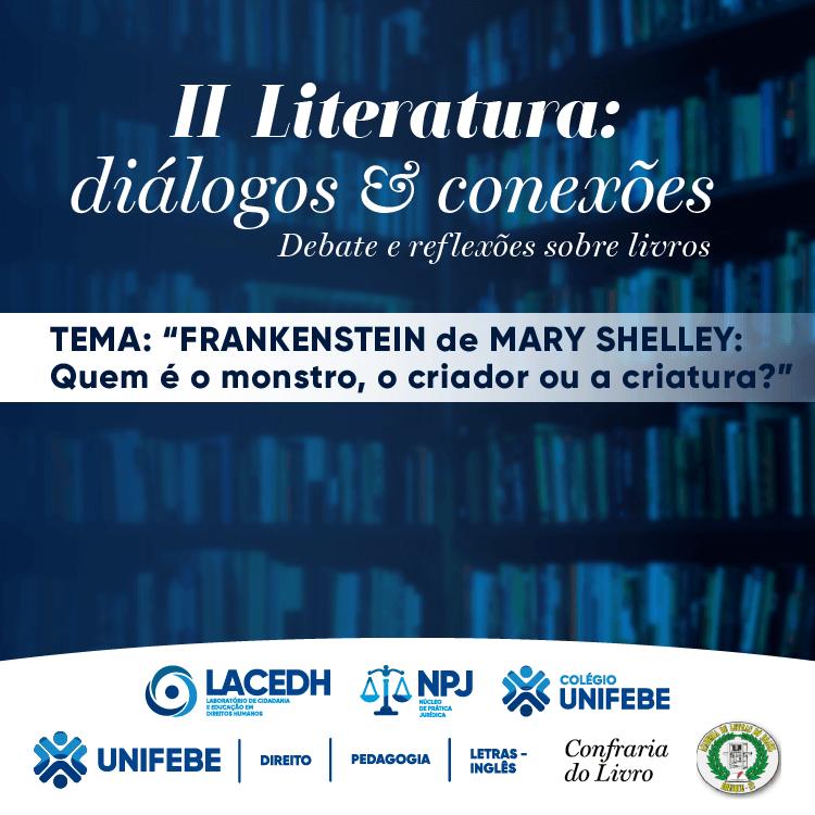 Edição virtual do evento Literatura: Diálogos e Conexões será na próxima quarta-feira (2)