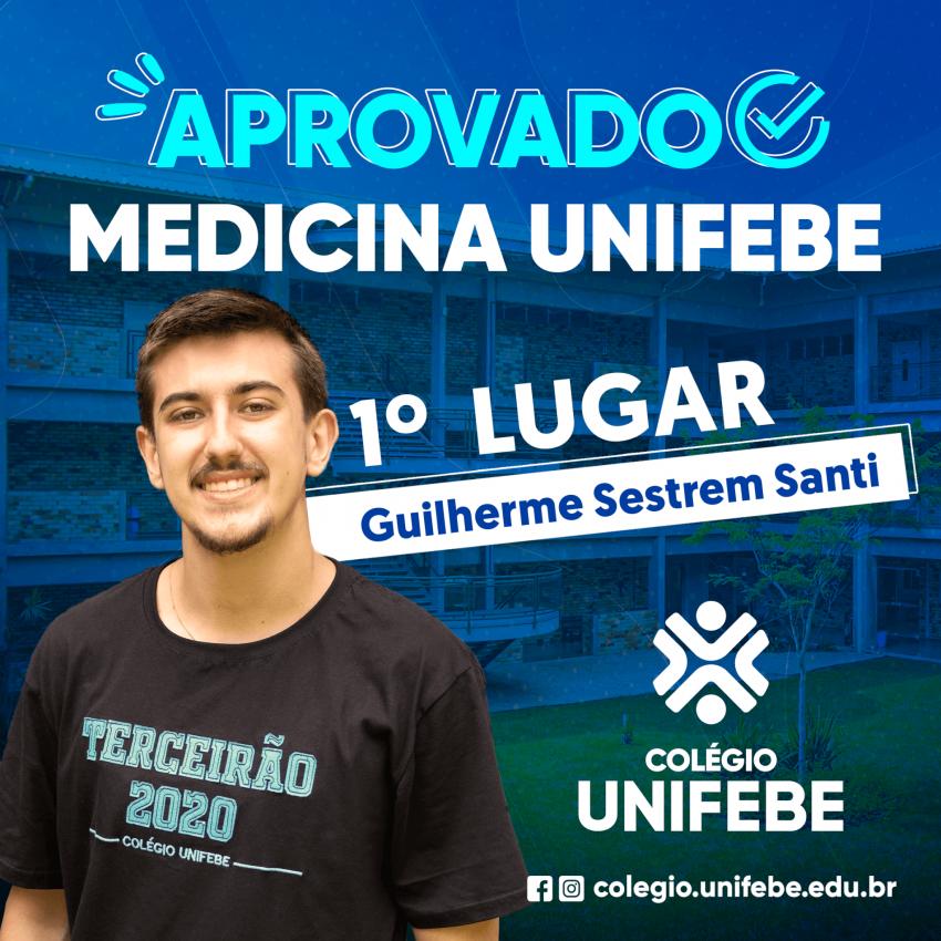 Estudante do Colégio UNIFEBE é aprovado em 1º lugar em Medicina na UNIFEBE