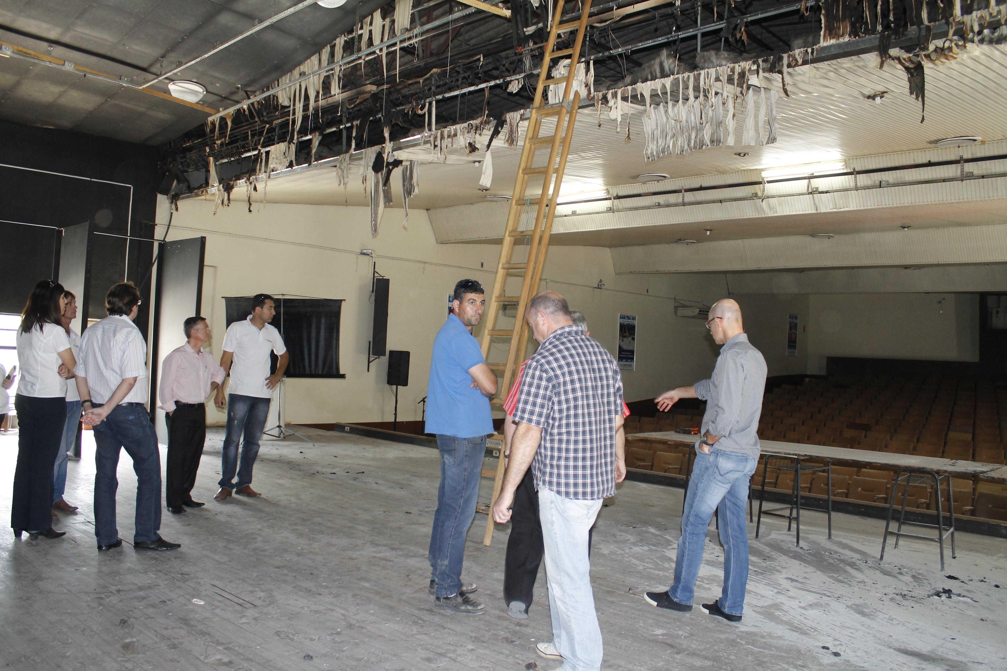 Anfiteatro da UNIFEBE sofre princípio de incêndio