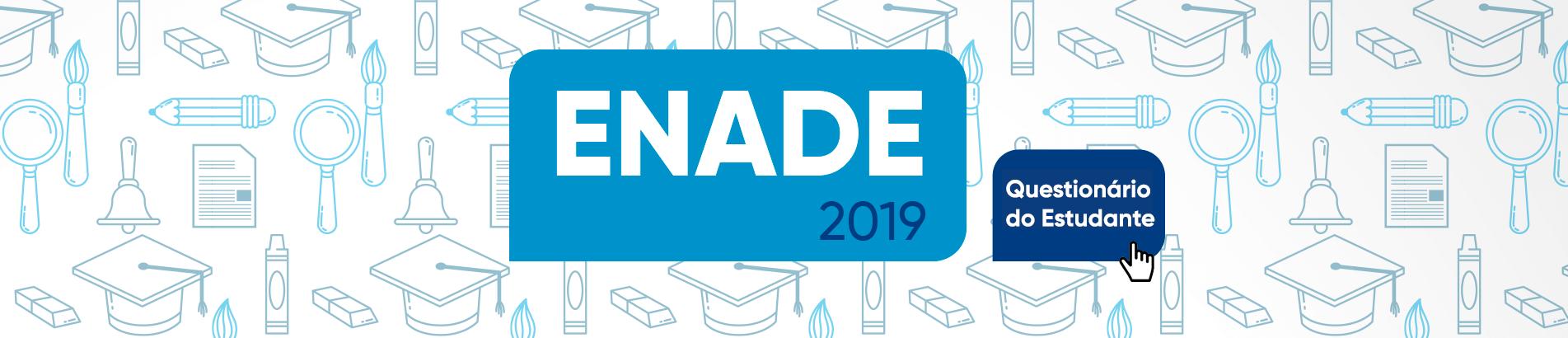 Banner rotativo desktop - Enade 2019 questionário