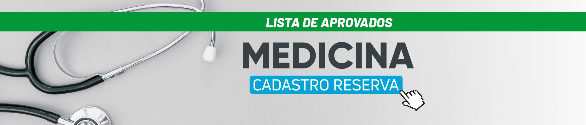 Banner site lista de aprovados cadastro reserva medicina desktop