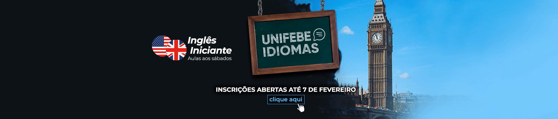 Banner Desktop UNIFEBE Idiomas