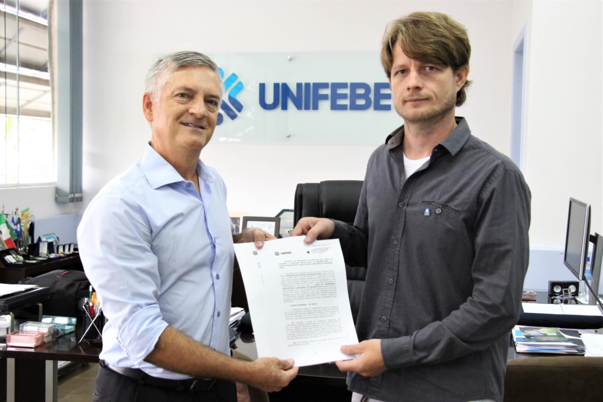 UNIFEBE firma parceria com o Clube de Engenharia, Arquitetura e Agronomia de Brusque