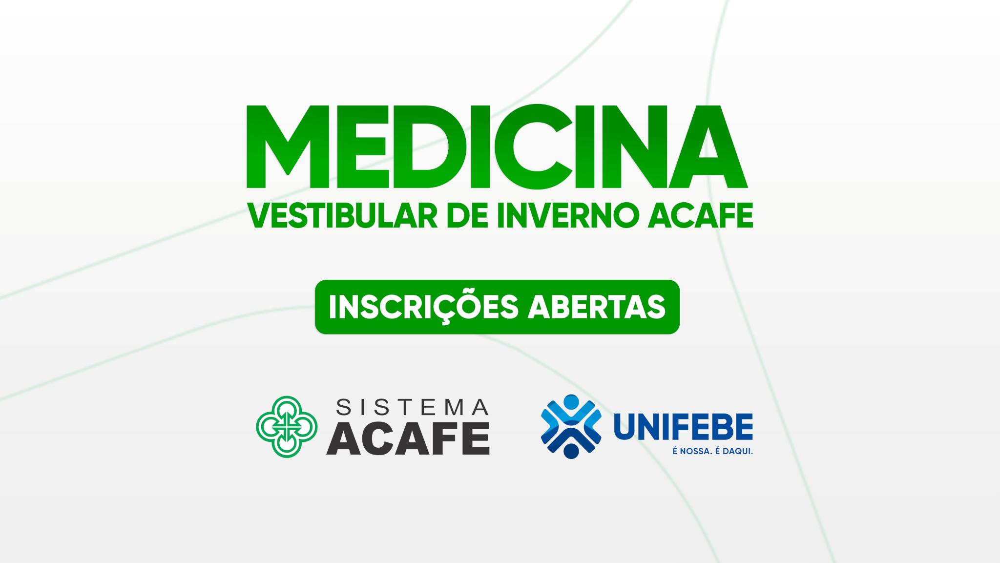 Inscrições abertas para o vestibular de Medicina UNIFEBE 2021.2