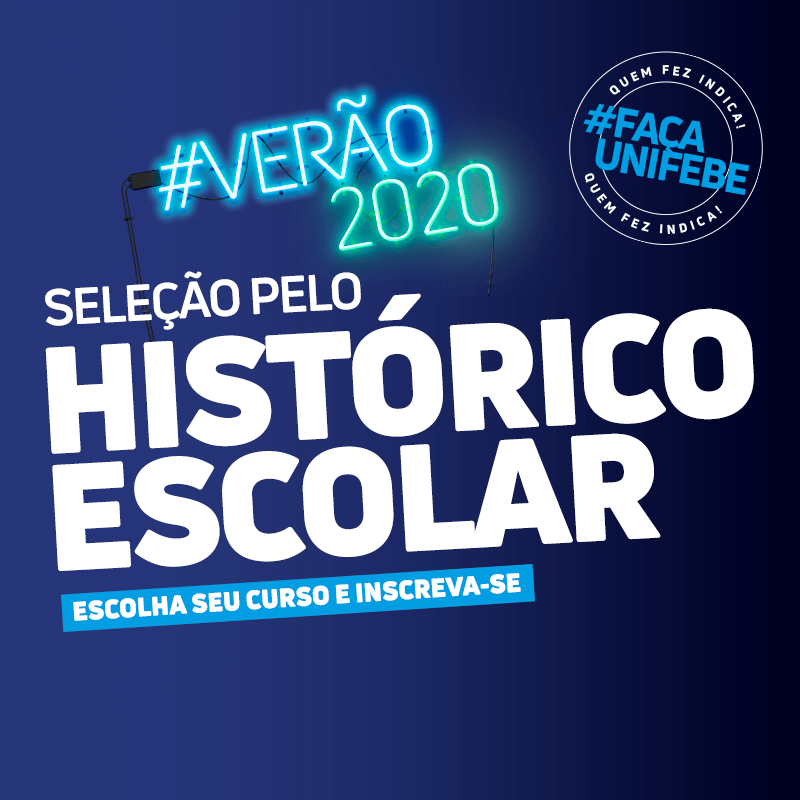 Inscrições para Seleção pelo Histórico Escolar UNIFEBE seguem até 21 de janeiro