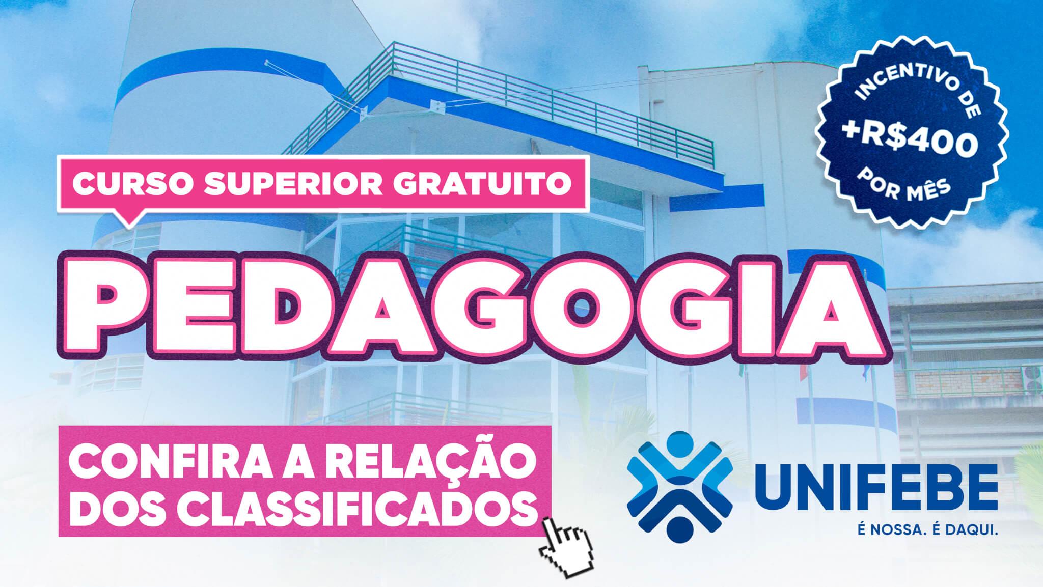 MOBILE curso gratuito PEDAGOGIA RELAÇÃO CLASSIFICADOS