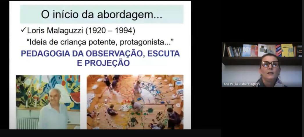 Palestra virtual debate abordagem de Reggio Emilia e o currículo da Educação Infantil brasileira