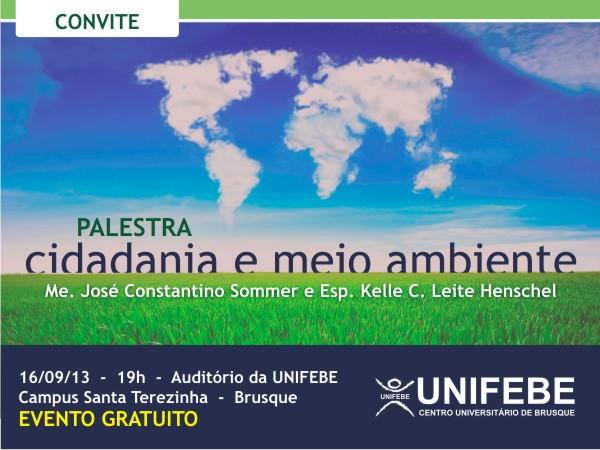 Palestra sobre Cidadania e Meio Ambiente