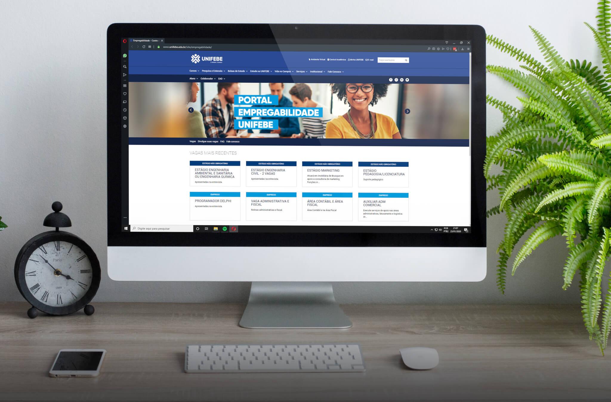 Portal Empregabilidade UNIFEBE oferta vagas de estágio e emprego