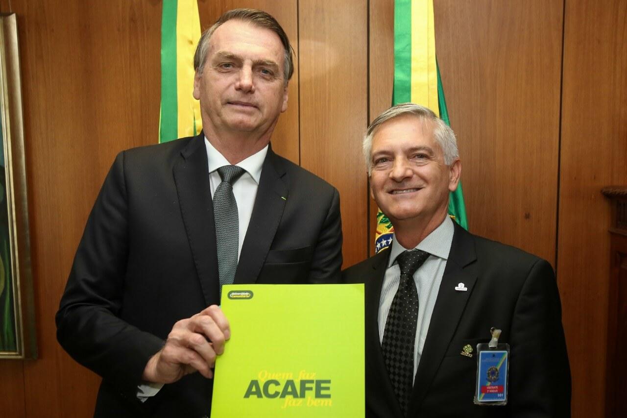 Presidente da Acafe se reúne com o presidente Jair Bolsonaro 1
