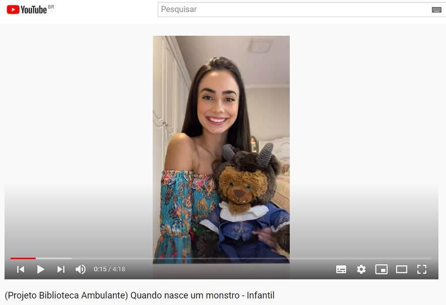 Projeto Biblioteca Ambulante UNIFEBE produz vídeos para o Youtube