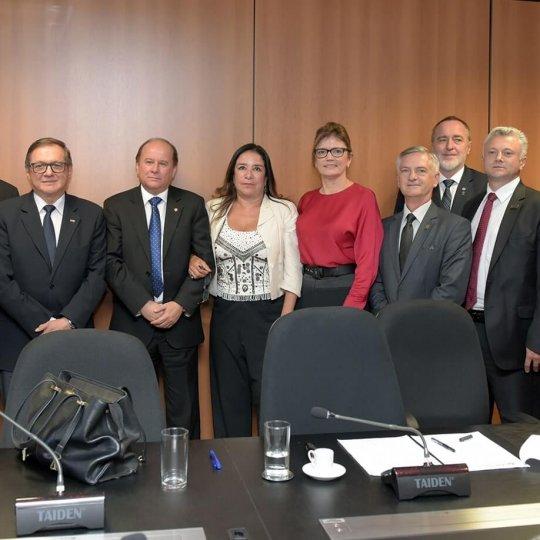 Professor doutor Günther Lother Pertschy esteve reunido com o Ministro da Educação em Brasília - Crédito - MEC