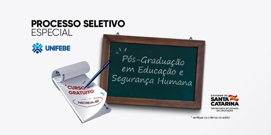 UNIFEBE abre inscrições para Pós-Graduação em Educação e Segurança Humana