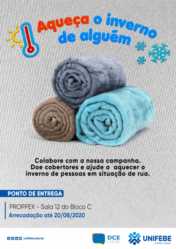UNIFEBE lança campanha Aqueça o Inverno de Alguém