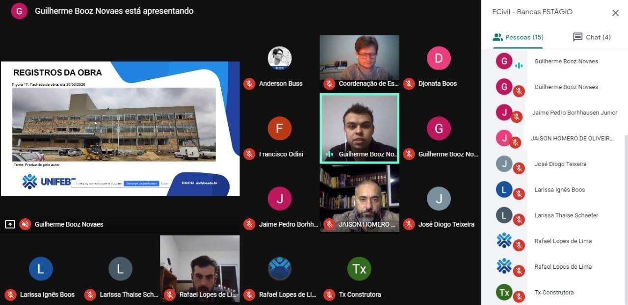 UNIFEBE promove apresentação de bancas via Google Meet