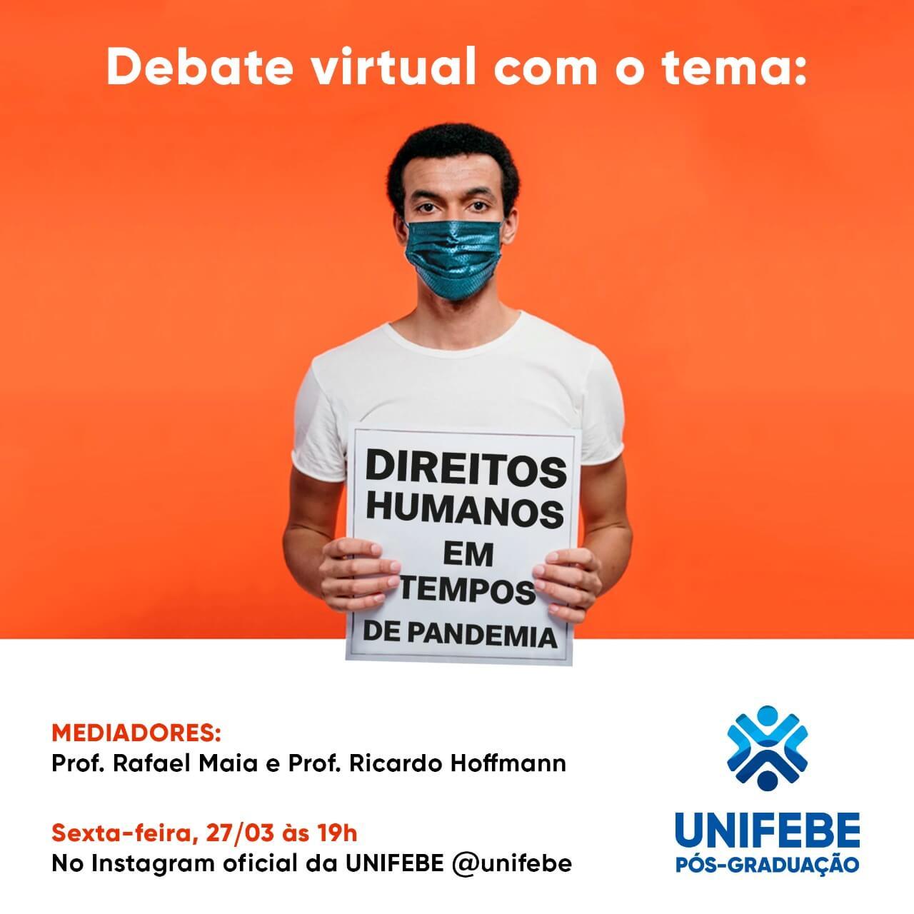 UNIFEBE promove debate virtual sobre Direitos Humanos em tempos de pandemia
