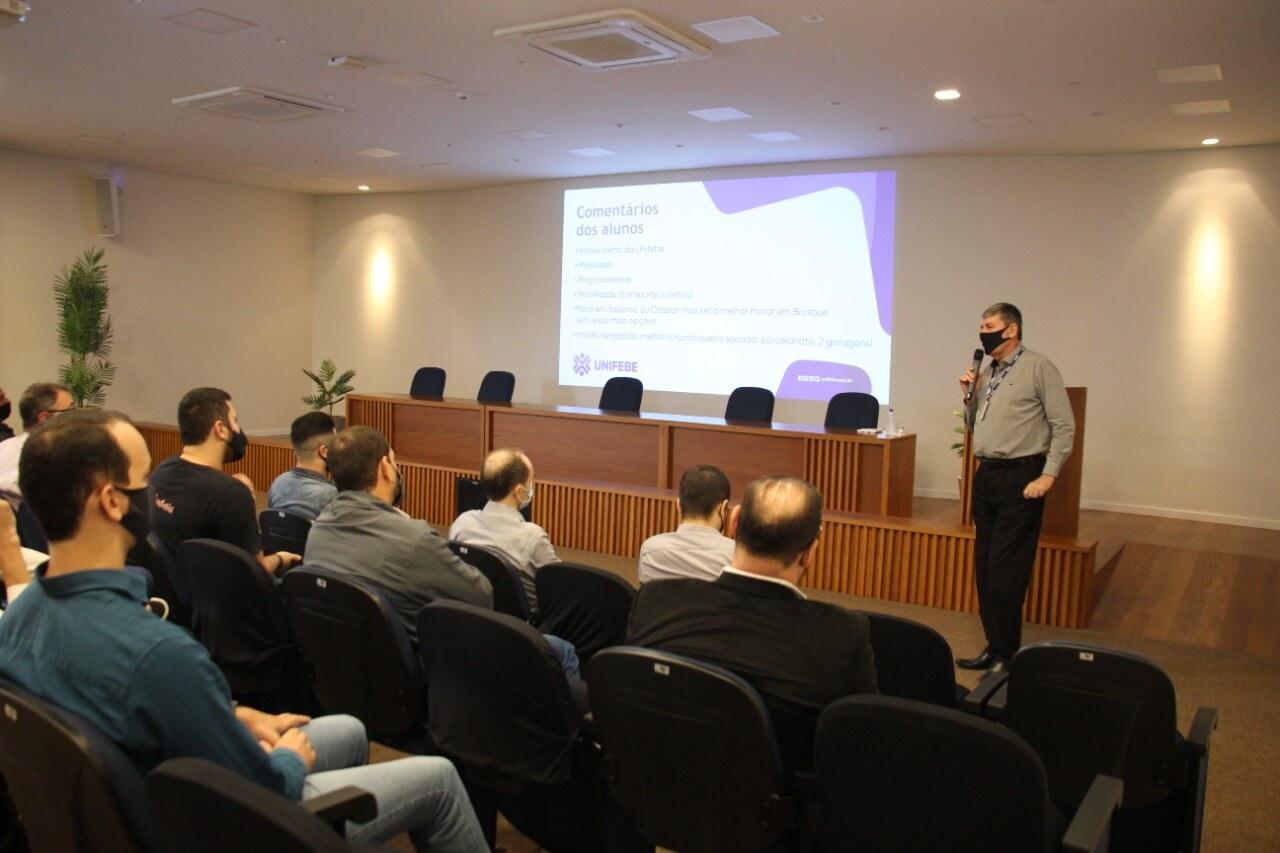 UNIFEBE promove encontro com imobiliárias e construtoras de Brusque