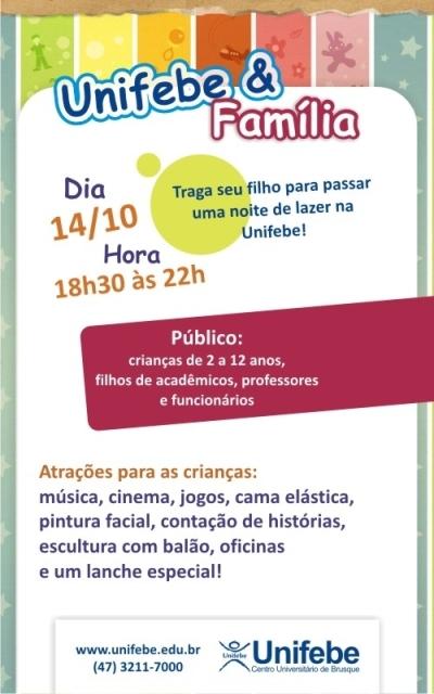 Unifebe promove atividade para as crianças nesta sexta-feira