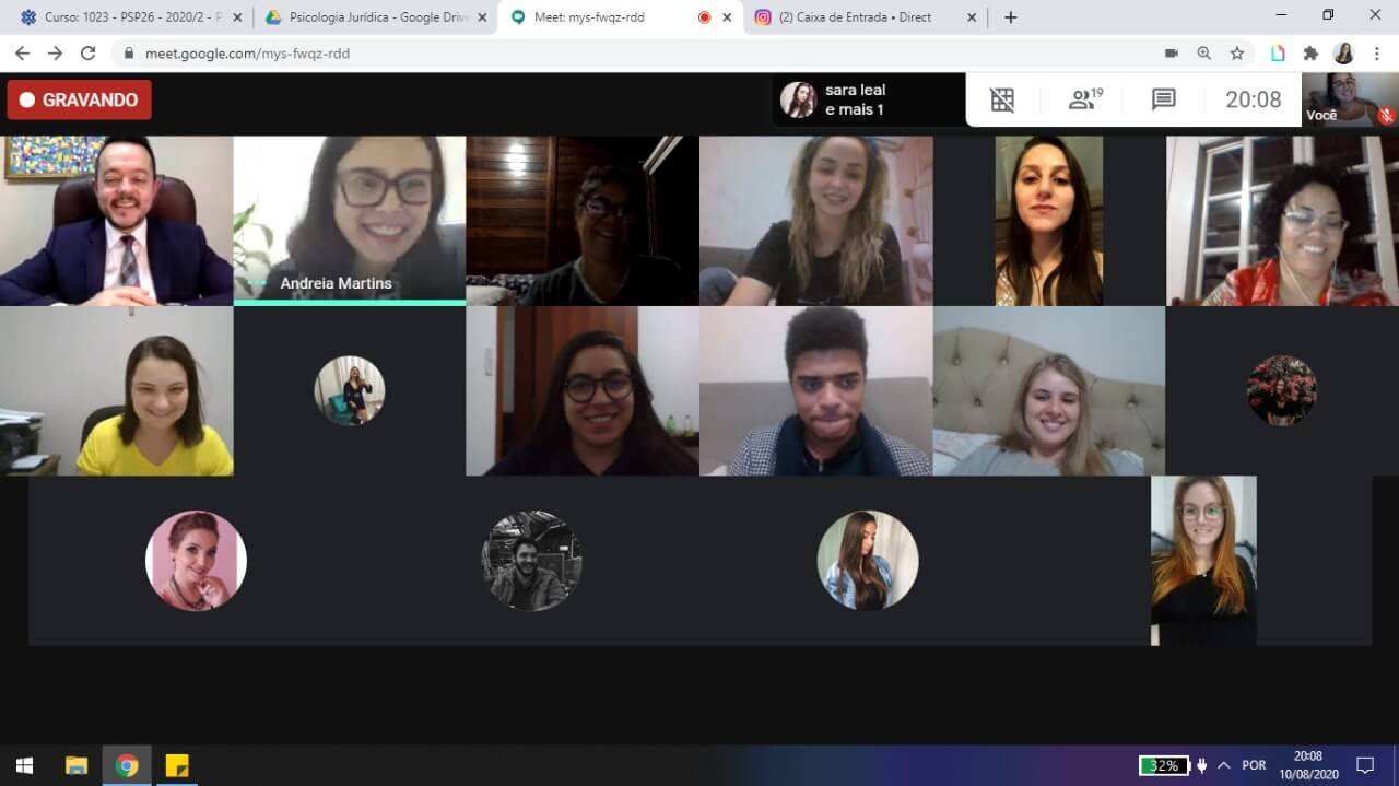 Webinar aborda Psicologia na interface do Direito